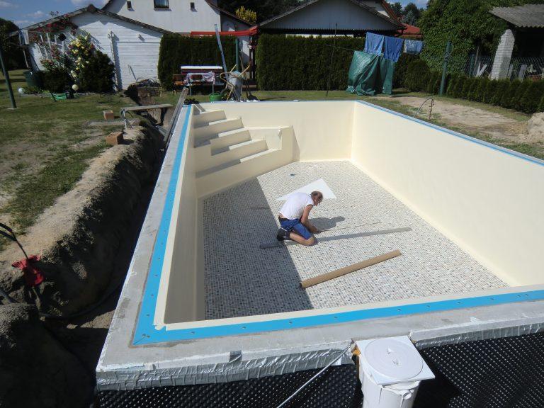 Folienauskleidung schwimmbecken schwimmbadfolie einschwei en for Folienauskleidung pool